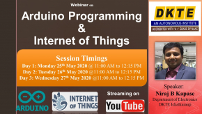 "Webinar on ""Arduino Programming and Internet of Things"""