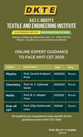 "Recordings of ""Expert Guidance to Face MHT-CET 2020"""